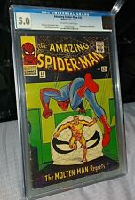 Amazing Spiderman #35 CGC 5.0 2nd appearance of Molten Man 1966