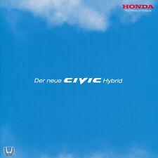 Broschüre HONDA CIVIC HYBRID Prospekt Limousine 4-Tür IMA-System Auto Kfz Pkw. D