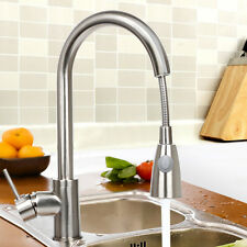 New Kitchen Faucet Brushed Nickel Pull Out Single Handle Sink Tap Bar