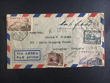 1949 Tangier Spain Cover to Arlington Va Usa Airmail