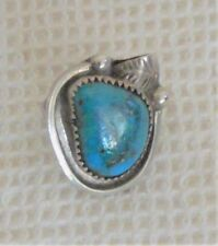 Genuine turquoise and sterling silver ladies pinkie ring, purchased in Arizona