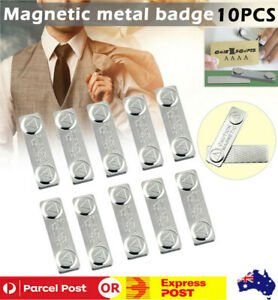 10X SUPER Strong Magnetic Name Tag Badge Fastener ID Card Holder Office Uniform