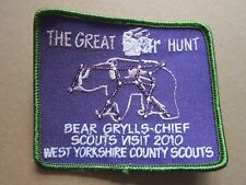 Great Bear Hunt West Yorkshire 2010 Cloth Patch Badge Boy Scouts Scouting L3K D