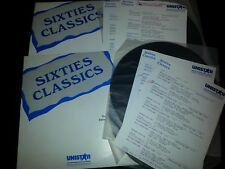 """1990 Vol 1 And Vol Two """"Sixties Classics"""" Radio Series From Unistar Programming"""