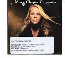 (GR850) Mary Chapin Carpenter, Simple Life - 2001 DJ CD