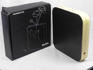 MoMA Chalkboard Slate Vase Square Black Laminated Plywood Ricardo St. Clair