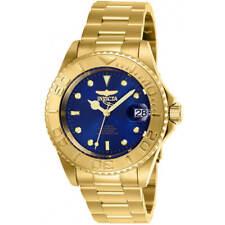 Reloj de Pulsera Invicta para Hombre Pro Diver Cuadrante Azul Automático Pulsera De Oro Amarillo 26997