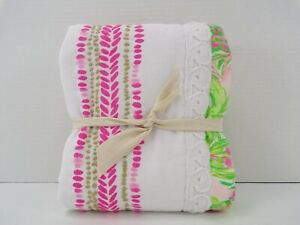 Pottery barn Lilly Pulitzer On Parade Quilted Sham Standard Pink Multi #9871