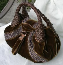 Authentic FENDI LE Velvet Ricama Leather Baby Spy Bag 8BR589 - NWOT!!