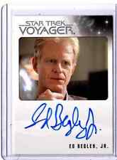 Star Trek Quotable Voyager Ed Begley Jr. auto card