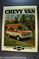 1974 Chevrolet Van Truck Catalog Sales Brochure Excellent Original 74