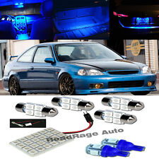 99-00 Civic Si Blue LED Bulb Interior FULL PACKAGE Map Dome Trunk License Plate