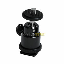 "1/4"" Mini Ball Head Bracket/Holder/Mount for Camera Canon Nokon Tripod hot shoe"