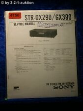 Sony Service Manual STR GX290 /GX390 FM/AM Receiver (#4750)