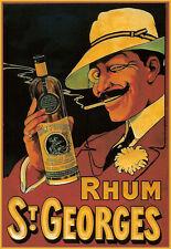 Rum-St Georges-BORDEAUX-Französisches Liqeur-Küche-A3 ART POSTER PRINT