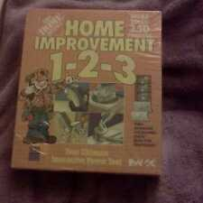 HOME DEPOT HOME IMPROVEMENT 1-2-3 250+ PROJECTS PC MAC CD ROM COMPLETE NEW