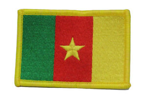 Cameroon Country Flag Iron On Patch