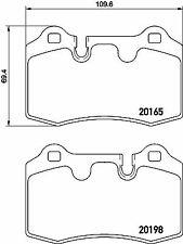 2016501 TEXTAR CAR BRAKE PADS Rear