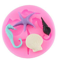 Silicone 3D Starfish Mermaid Mould Fondant Cake Chocolate Mold Decor Tool New