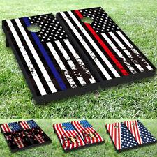 US Flag Vinyl Cornhole Toss Game Board Wraps Stickers Decals Skin Set #01-2 MTC