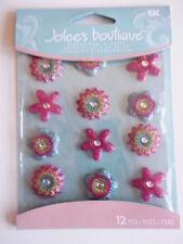 Jolee's Boutique adesivi 3D-PUNTO FIORI Cabochon-Giallo, Rosa Blu