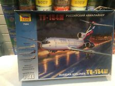 ZVEZDA 1:144 Tupolev TU-154M Plastic Model Kit - New & Unassembled