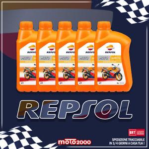 5 litri Olio Miscela 2 tempi New nuovo REPSOL 2T 100% Sintetico