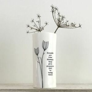 Porcelain Flower Decorative Vase Boxed | East of India Friendship Birthday Gift