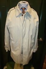 Brooks Brothers Recent Off White Cream Trench Coat Size XL Lightly Worn