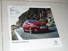Peugeot 208 GTI FOLLETO Turbo Hot Hatch N 205 309 306 106 205 HDI 207 405 308 RC