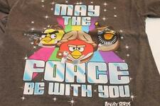ANGRY BIRDS STAR WARS Jrs XS Char Gray SS T Shirt (Check Measurements)