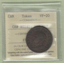 1823 Nova Scotia 1/2 Penny Token - BR #867 - ICCS Graded VF-20
