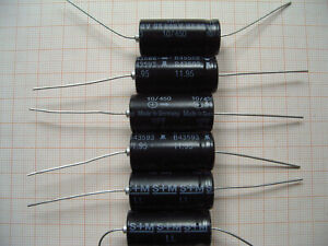 Start Capacitor Motor Capacitor 10µF 450V 35x65mm Cable 25cm miflex 10uF
