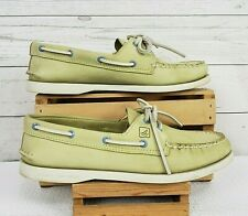Sperry Top-Sider Women's Lime Green Boat Shoes Soft Leather Upper Sz 8M