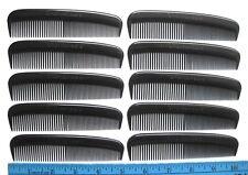10 ea. UNBREAKABLE heavy duty mens black plastic pocket combs bulk lot usa made