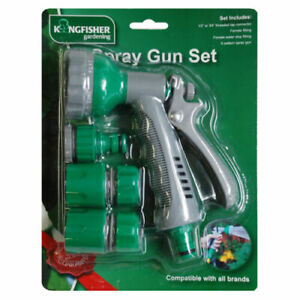 Complete Garden Watering Starter Pack 6 Dial Spray Gun Set