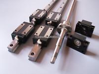20mm ballscrew RM2005-1500mm+BK/BF15 end bearing+20mm Linear Guideway 2 Rail CNC