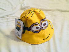 M&S Kids' Minions Pull-on Reversible Summer Hat Age 6-18 Months BNWT