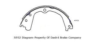 Parking Brake Shoe Set-Dash4 Rear Dash 4 Brake B952