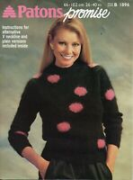 Patons  Knitting Pattern 1896 Trend Setter in Patons Promise  26 - 40 inch chest