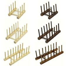 New listing Bamboo Dish Rack Wooden Holder Drying Drainer Storage Organizer Wooden Plate Us