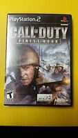 Call of Duty - Finest Hour - Game - PLAYSTATION 2 PS2 (S6-C1)