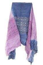 Femmes élégantes rétro violet/bleu tie dye dentelle unique Déclaration Foulard (MS32)