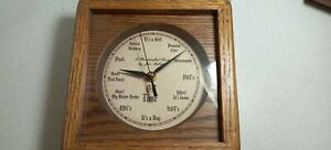 Vintage Clock By Jim Mofhitz Handcrafted Oak wood - humorous- OB TIME