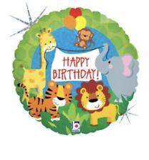 "Happy Birthday Jungle Animals 18"" Balloon Birthday Party Decorations"