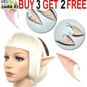 Latex Fairy Pixie Elf Ears Cosplay Halloween Party Pointed Prosthetic Tips Earaa