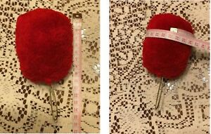 Red Color Wool Pompom for Mexican Shako Helmet with Brass wire Loop at bottom