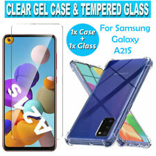 New for Samsung Galaxy A21S Screen Protector Clear Tempered Glass Gel Case Cover