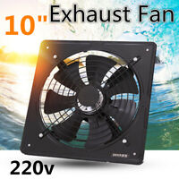 New 10'' 220V 50W Industrial Ventilation Extractor Axial Exhaust Air Blower  ~