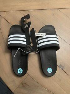 Mens Adidas Adilette Slides New Nwt Black Size 10